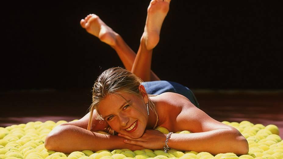 Durante o torneio de Indian Wells, na Califórnia, em 2002