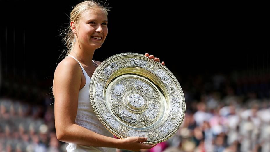 Sharapova venceu seu primeiro Grand Slam em Wimbledon no ano de 2004