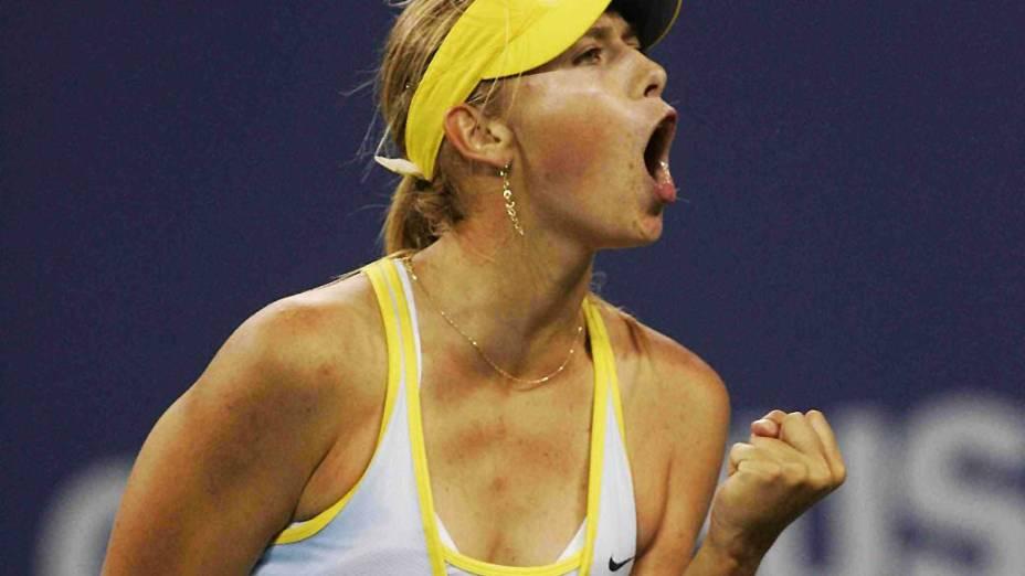 Maria Sharapova durante o US Open em 2005