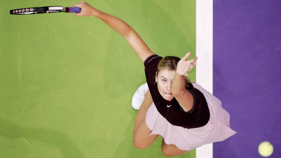 Maria Sharapova durante o WTA Tour de Madri em 2007