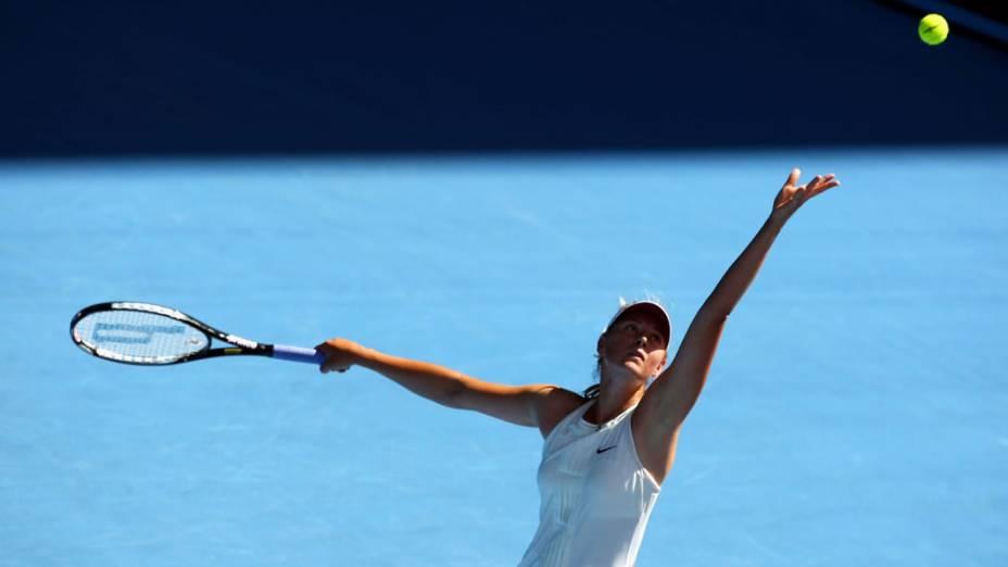 Maria Sharapova durante o Australian Open de 2008