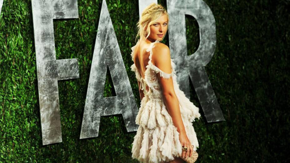 Na festa promovida depois da premiação do Oscar, em Hollywood, 2012