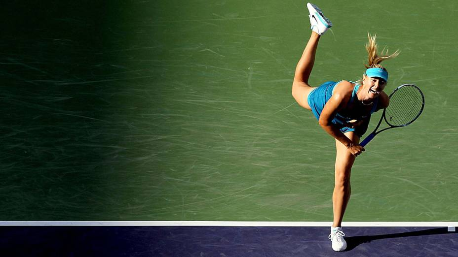 Maria Sharapova, no torneio de Indian Wells, na  Califórnia