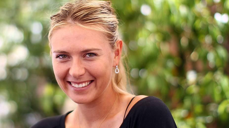 A tenista russa Maria Sharapova: 25 anos, 1,88 metro