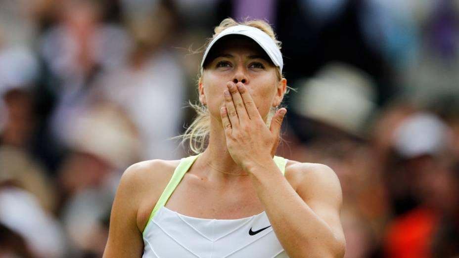 Maria Sharapova durante o torneio de Wimbledon 2012