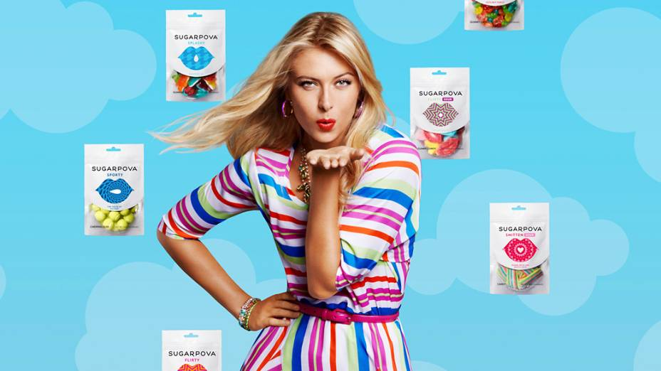 Maria Sharapova lança sua marca de doces chamada Sugarpova