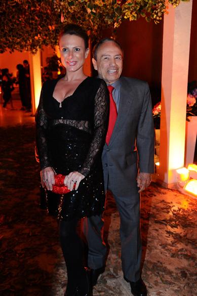 "Marilene Saade e Stenio Garcia durante a festa de lançamento da novela ""A vida da gente"""