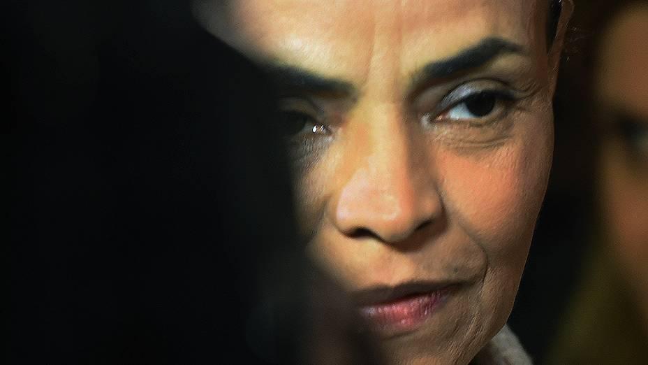 CONCENTRAÇÃO - A candidata Marina Silva (PSB) antes do debate