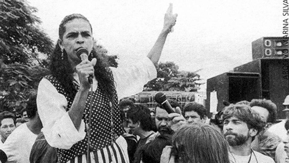 Em 1994, Marina Silva milita no Acre, sendo eleita senadora no mesmo ano