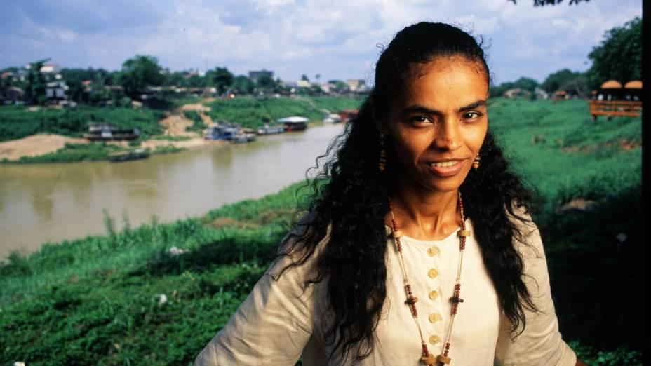 A senadora Marina Silva, em 1994