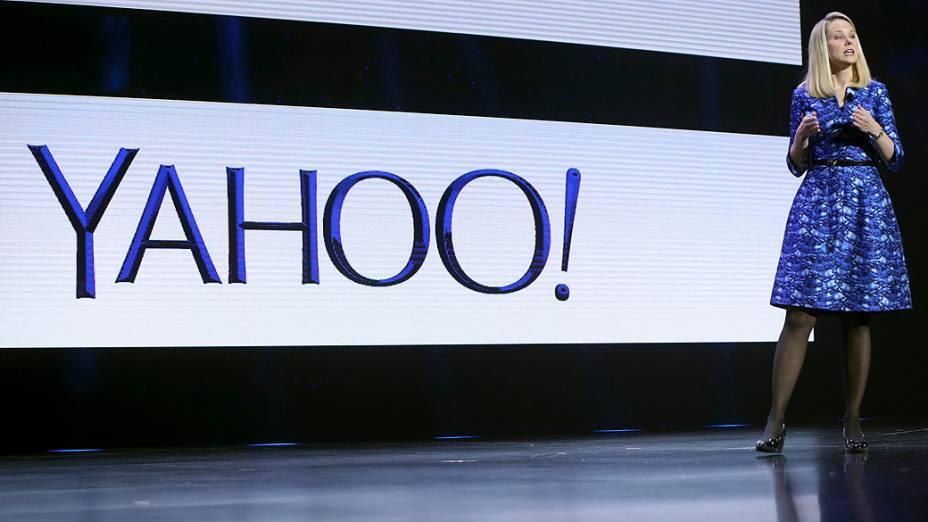 Em palestra na CES 2014, Marissa Mayer, CEO do Yahoo, reforçou estratégia da empresa para dispositivos móveis