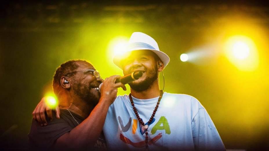 Show de Martinho da Vila, Emicida e Cidade Negra no palco Sunset, no quinto dia do Rock in Rio, em 30/09/2011