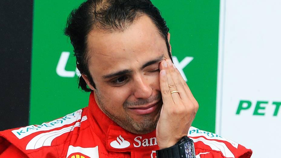 Felipe Massa, comemora o terceiro lugar na Fórmula -1