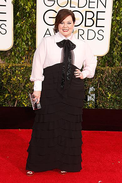 Melissa McCarthy durante 72ª edição do Globo de Ouro, prêmio da associação de correspondentes de Hollywood que elege os melhores do cinema e da TV, em Los Angeles, nos EUA