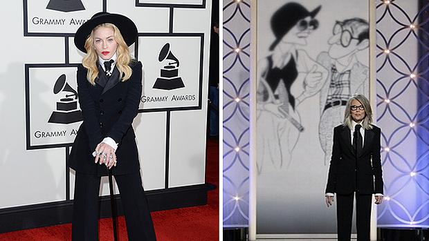 Madonna no Grammy e Diane Keaton no Globo de Ouro: separadas no nascimento?