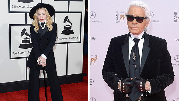 Madonna comparada ao estilista Karl Lagerfeld, da Chanel