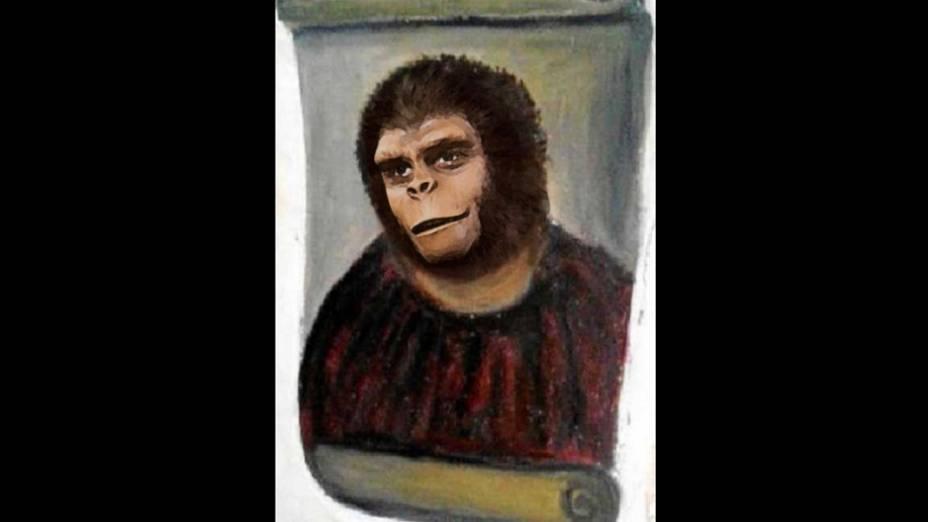 """Meme da obra """"restaurada"""" por idosa na Espanha usa o personagem do filme Planeta dos Macacos"""