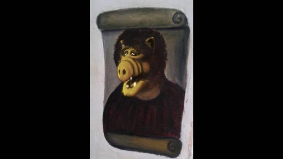 """Meme da obra """"restaurada"""" por idosa na Espanha ganha versão com o personagem Alf"""