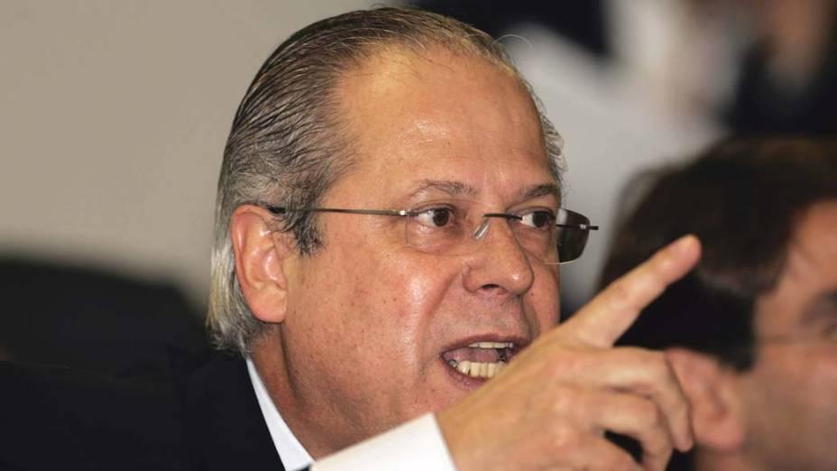 José Dirceu, deputado federal do PT-SP e ex-ministro-chefe da Casa Civil, durante depoimento ao Conselho de ética e Decoro Parlamentar da Câmara dos Deputados