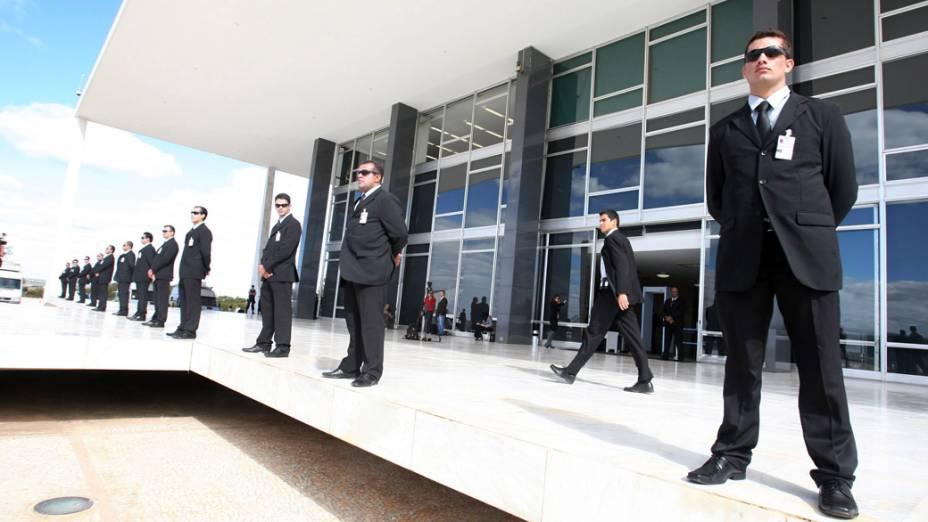 Segurança reforçada durante o julgamento do mensalão no Supremo Tribunal Federal
