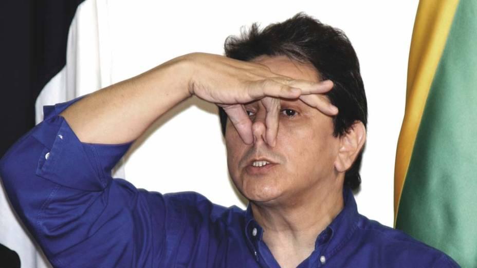 O ex-deputado Roberto Jefferson concede entrevista coletiva à imprensa, na sede do PTB