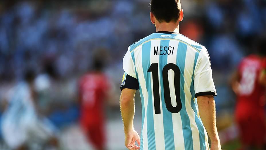 Messi durante o jogo contra o Irã no Mineirão, em Belo Horizonte