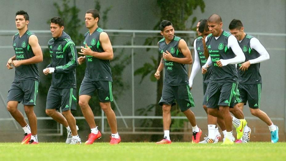 O treino do México em Santos