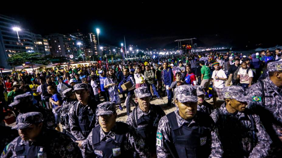 Jornada Mundial da Juventude na praia de Copacabana, em 27/07/2013