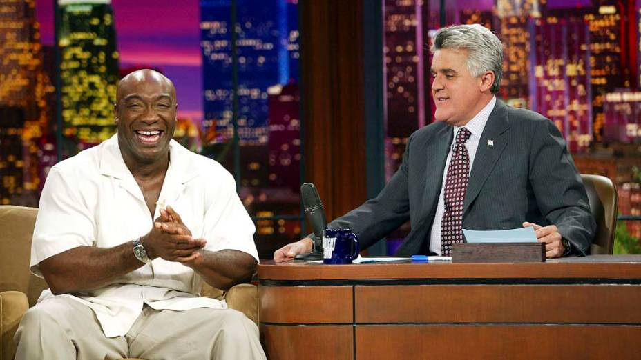 O ator Michael Clarke Duncan durante no programa The Tonight Show with Jay Leno