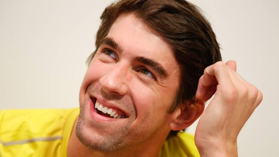 Foto do nadador americano Michael Phelps para anúncio da marca Louis Vuitton