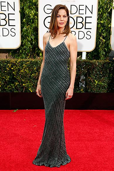 A atriz Michelle Monaghan durante 72ª edição do Globo de Ouro, prêmio da associação de correspondentes de Hollywood que elege os melhores do cinema e da TV, em Los Angeles, nos EUA