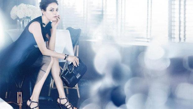 Mila Kunis como garota-propaganda da Dior