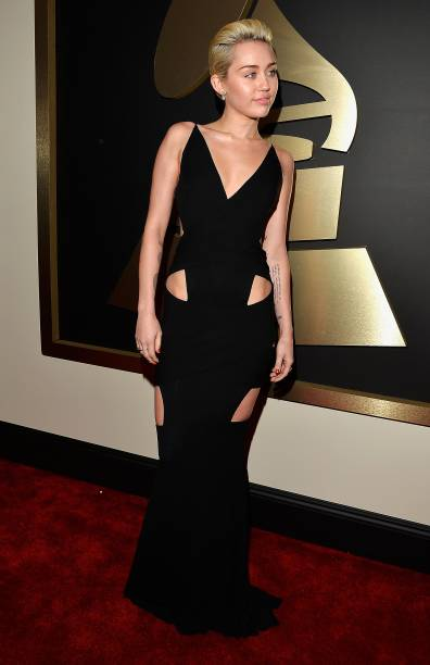 Miley Cyrus durante a 57ª edição do Grammy, premiação que elege os melhores da música internacional, que acontece neste domingo (08)