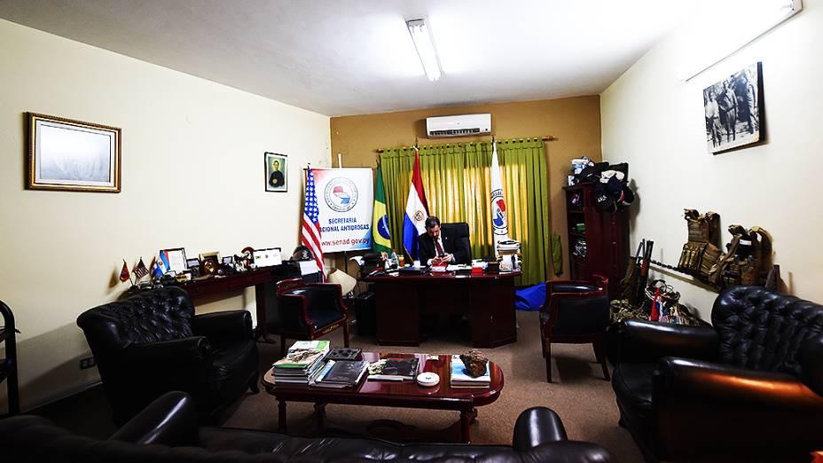 Luis Rojas, ministro da Secretaria Nacional Antidrogas do Paraguai