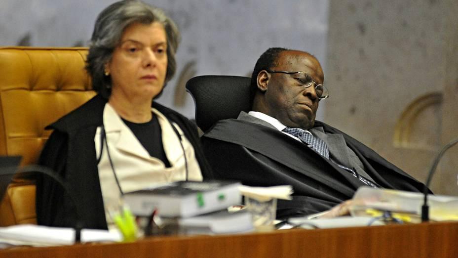 Ministro do STF Joaquim Barbosa, durante julgamento do mensalão