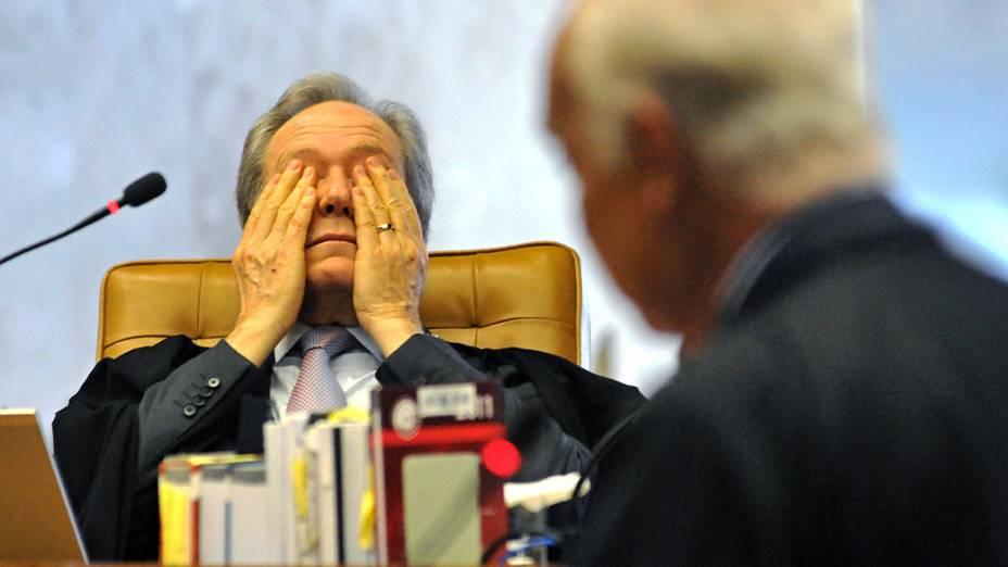 Ministro do STF Ricardo Lewandowski, durante julgamento do mensalão