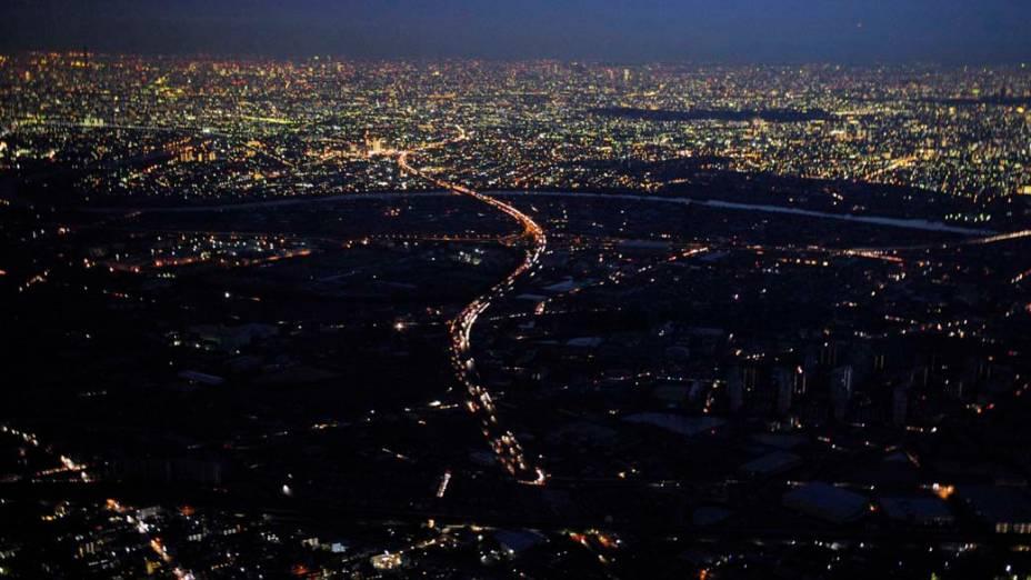 Vista aérea da Cidade de Misato, Japão