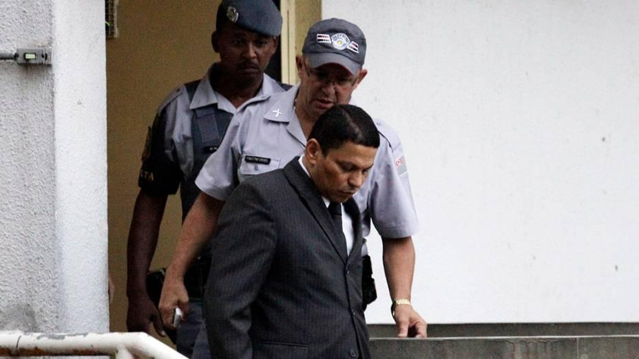 Mizael Bispo deixa o fórum de Guarulhos após ter sido condenado pelo assassinato da advogada Mercia Nakashima
