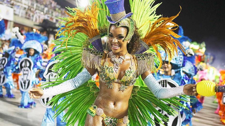 Musa da Mocidade Independente de Padre Miguel durante o Carnaval do Rio do Janeiro 2014