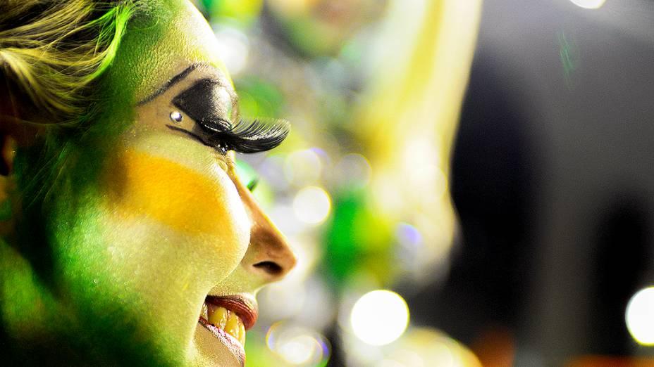 """Mocidade Independente de Padre Miguel durante o Carnaval do Rio do Janeiro 2014, com o enredo """"Pernambucópolis"""", na Marquês de Sapucaí"""