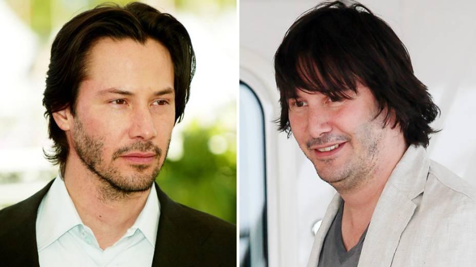 Antes e depois de Keanu Reeves