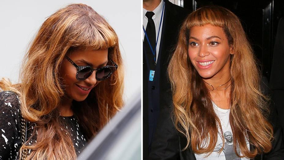 A cantora Beyonce aparece com um novo corte de cabelo