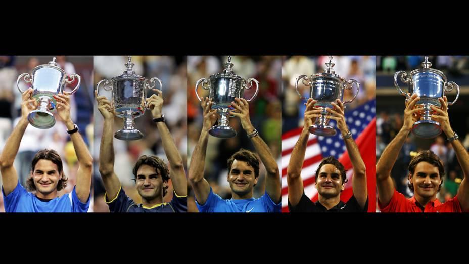 Títulos de Roger Federer no US Open consecutivos, de 2004 a 2008