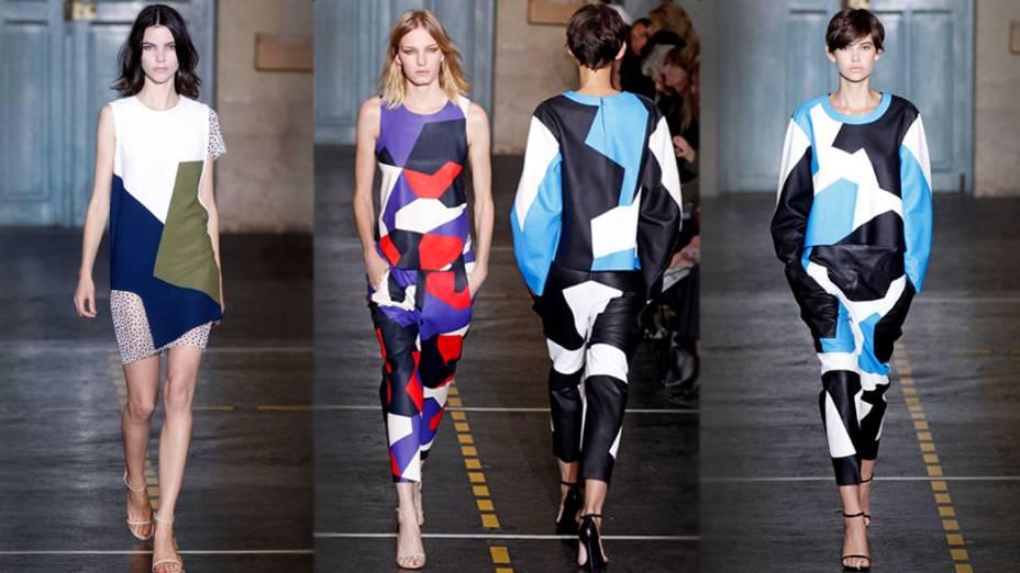 Coleção do estilista português Felipe Oliveira Baptista na Semana de Moda de Paris