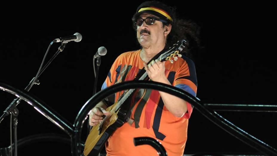 Moraes Moreira em trio em Salvador, em 17/02/2012
