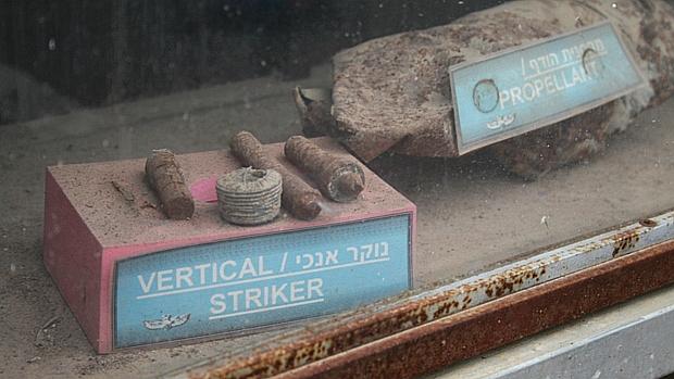 Motor de rojões palestinos é exposto em posto policial de Sderot