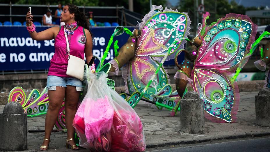 Movimentação na Marquês de Sapucaí, no Rio de Janeiro (RJ)
