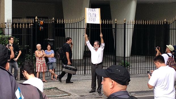 Manifestações durante a visita do papa Francisco no Rio de Janeiro