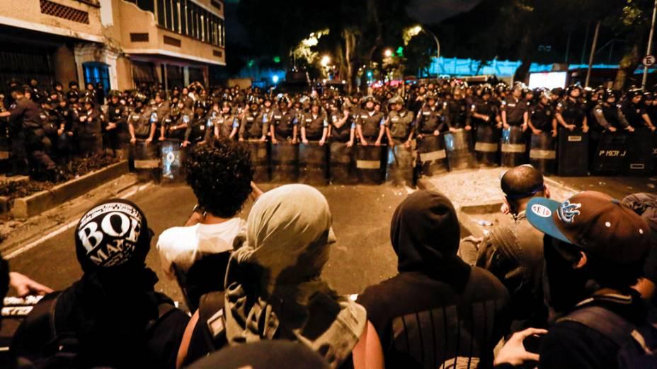 Confrontos após discurso do papa Francisco no Palácio do Guanabara, no Rio de Janeiro