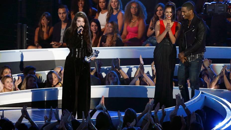 Lorde, vencedora na categoria melhor vídeo de rock no VMA